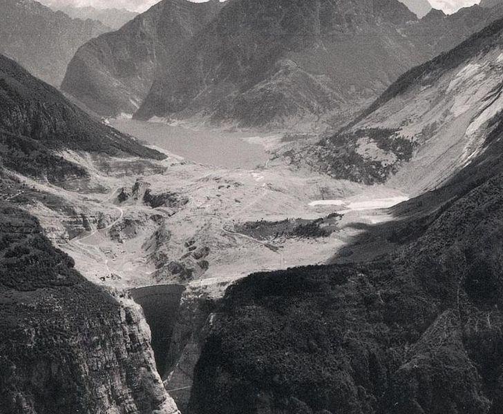Плотина Вайонт после катастрофы