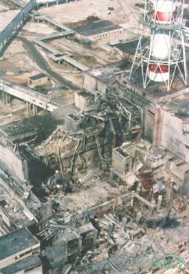 4-й энергоблок ЧАЭС после взрыва. Фото с сайта chnpp.gov.ua