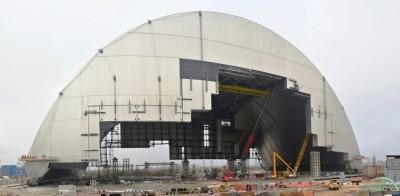 Вид собираемого конфайнмента (укрытия) для 4-го энергоблока ЧАЭС, состояние на 10.12.2015. Фото с сайта chnpp.gov.ua